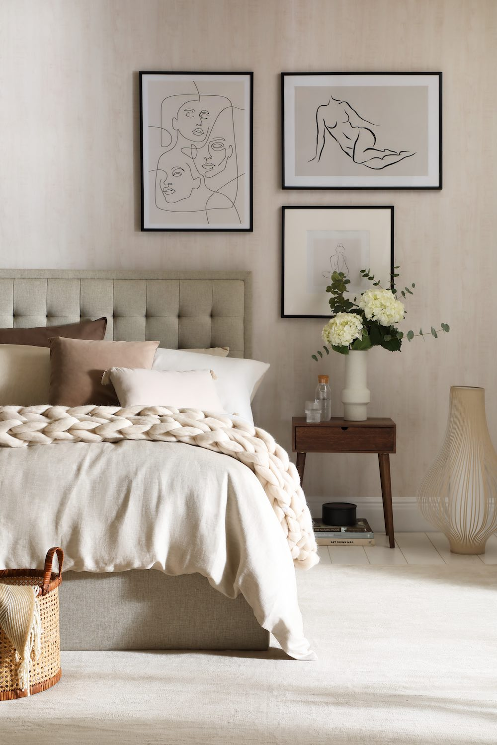 Furniture Choice Ltd, Lexington Oatmeal Fabric Ottoman Double Bed Staying Neutral